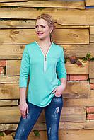 Молодежная трикотажная блуза А21 минт Arizzo 44-54 размеры