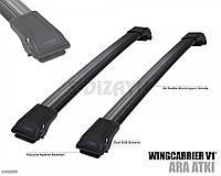 Поперечины на рейлинги   Chevrolet Tacuma  2004- черные
