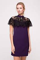 Платье молодёжное с гипюровой пелериной SV 1107