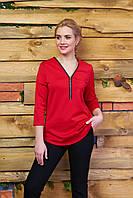 Молодежная трикотажная красная блуза А21 Arizzo 44-54 размеры