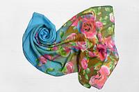 Шифоновый шарф Вильена Розы, голубой