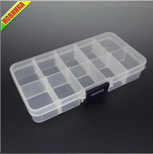 Коробка для бисера 13X6.5X2cm (Код: furnitura-Box-01)