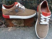 Мужские летние молодёжные кожаные кроссовки