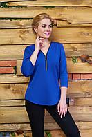Молодежная трикотажная блуза А21 электрик Arizzo 44-54 размеры
