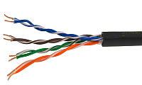 Кабель UTP  4PR  24AWG  CAT5e  305м, уличный,  CCA   PROCONNECT UTP 4*2*0,5 CCA улич