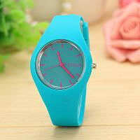 Силіконові наручний годинник Geneva, Блакитний, Унісекс, фото 1