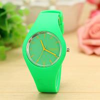 Силіконові наручний годинник Geneva, Салатовий, Унісекс, фото 1