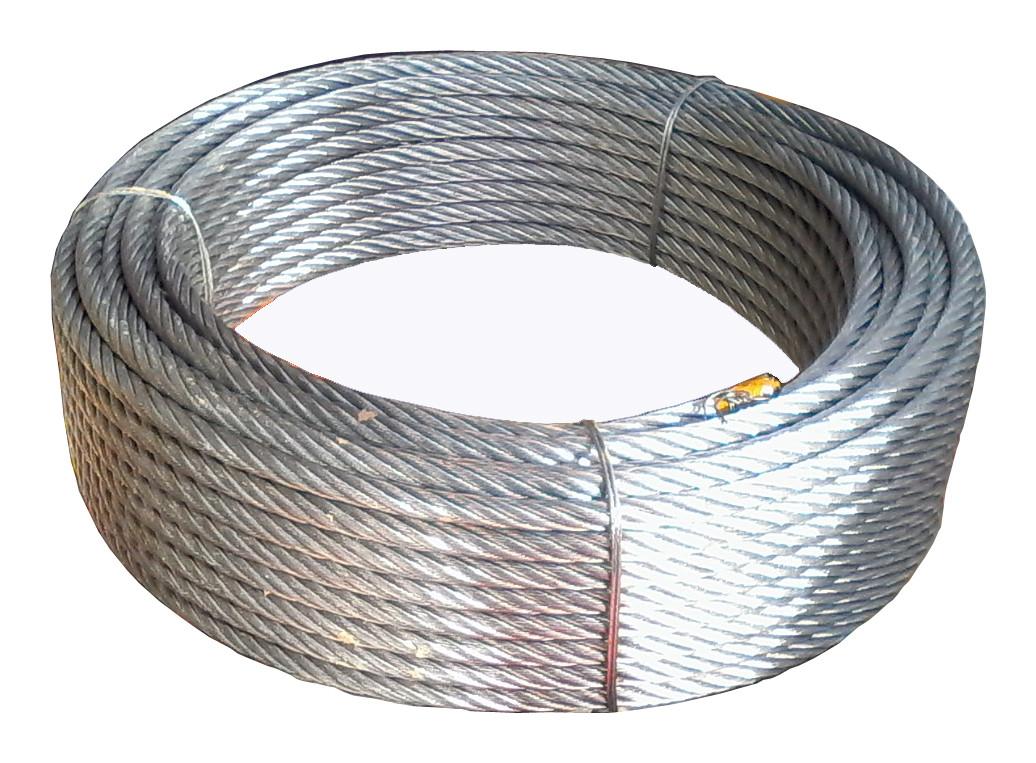 Трос стальной оцинкованный 10 мм