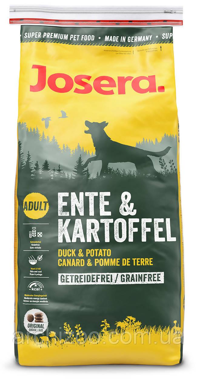 Корм Josera йозера Ente & Kartoffel 4,5 кг гипоаллергенный для собак с чувствительным пищеварением с уткой и картофелем