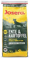 Josera Ente & Kartoffel гипоаллергенный для собак с чувствительным пищеварением с уткой и картофелем.