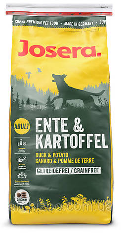 Корм Josera йозера Ente & Kartoffel 4,5 кг гипоаллергенный для собак с чувствительным пищеварением с уткой и картофелем, фото 2