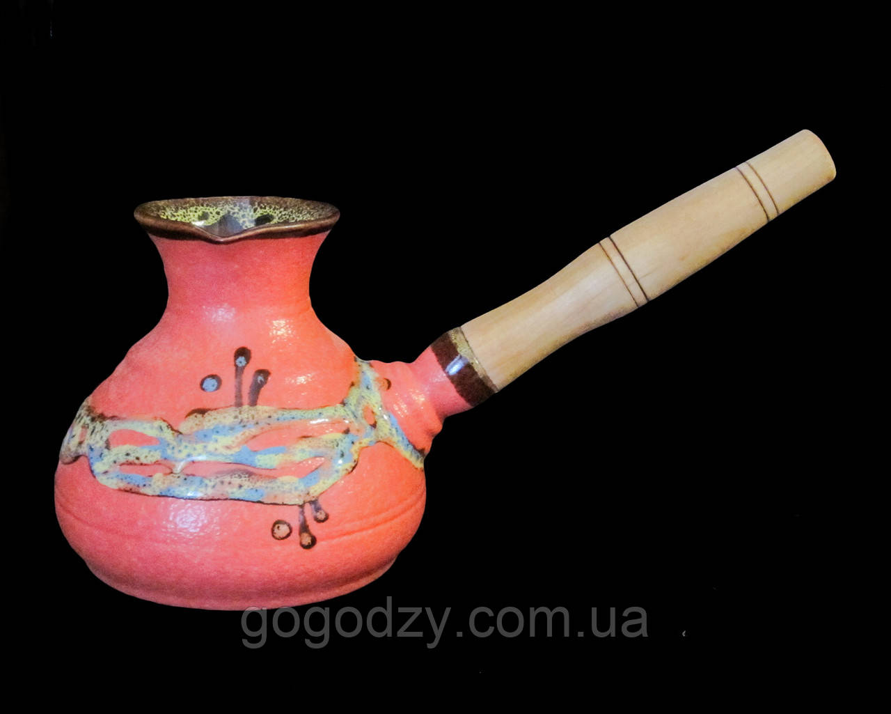 Турка 400 мл. декор Крайка рожева