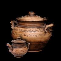Горшок глиняный с ручками «Шляхтянский»AC0223Покутская керамика