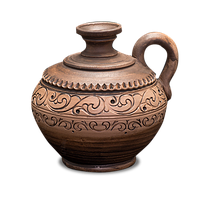 Графин (сулия) глиняный «Шляхтянский» AH0423 Покутская керамика
