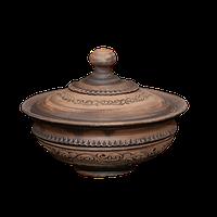 Миска глиняная с крышкой«Шляхтянская»AD0225Покутская керамика