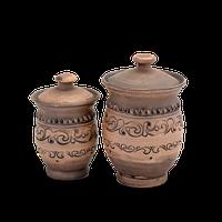 Банка для сыпучих продуктов глиняная«Шляхтянская» AG2123