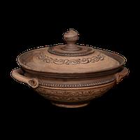 Миска глиняная с крышкой«Шляхтянская»AD0330Покутская керамика
