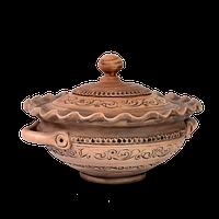 Миска глиняная с крышкой «Шляхтянская» AD0630 Покутская керамика