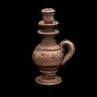 Подсвечник глиняный «Шляхтянский» AI0200 Покутская керамика