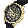 Классические наручные часы Geneva, Черный, Унисекс
