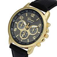 Классические наручные часы Geneva, Черный, Унисекс, фото 1