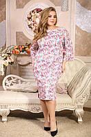 Женское Платье больших размеров Афалина цветы (48-88)