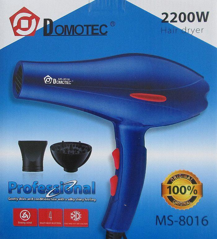 Профессиональный фен для волос Domotec Ms-8016, 2200 W