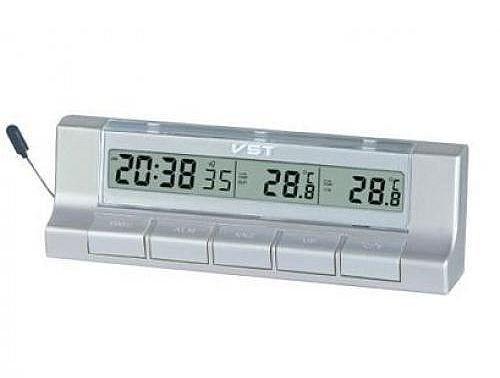 Термометр автомобільний з годинником Vst-7037