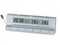 Термометр автомобильный с часами Vst-7037