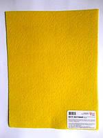 Фетр листовой (полиэстер), 21,5*28 см, желтый, 180 г/м2, ROSA Talent, 953602