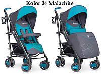 Детская прогулочная Коляска-трость CROSSLINE Malachit - Euro-Cart Польша - пятиточечный ремень, чехол, корзина