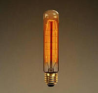 Лампа Эдисона, ретро лампа цилиндрическая, винтажная лампа накаливания, цоколь E27, модель T30