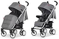 Детская прогулочная Коляска-трость MORI Carbon - Euro-Cart Польша - пятиточечный ремень, чехол, корзина