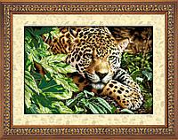 """Набор алмазной вышивки (рисования камнями) """"Отдыхающий леопард"""""""