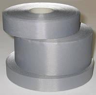 Светоотражающая лента 2.5 см (100 метров в бобине , серого цвета)