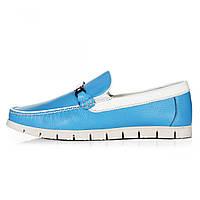 Мокасины мужские Geronimo бело-голубые
