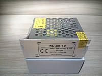 Блок питания 60W 12V 5A IP20 трансформатор для светодиодной ленты