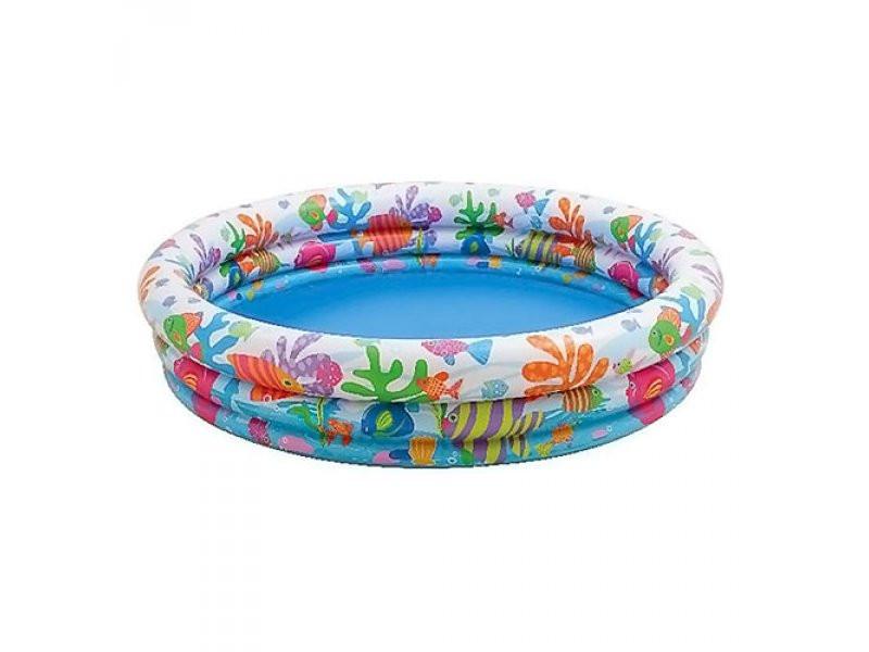 Детский надувной бассейн Аквариум 132x28 Intex 59431