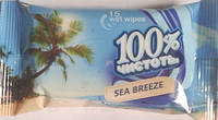 """Влажные салфетки """"100% Чистоты"""" Морской бриз"""