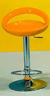 Стул барный хромированный Торре оранжевое  пластиковое глянцевое сиденье