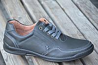 Туфли, мокасины мужские натуральная кожа черные. (Код: 417а). Размеры уточняйте!, фото 1