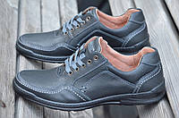 Туфли, мокасины мужские натуральныя кожа черные  (Код: 417). Размеры уточняйте!, фото 1