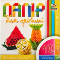 """Бумага для оригами 10*10см 100листов,10цветов """"Мандарин"""""""