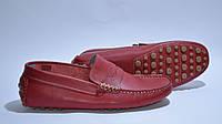 Мокасины мужские кожаные красные Eurostock