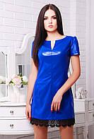 Платье Кожа электрик