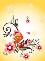 Дизайнерская бумага #1750. Цветы.
