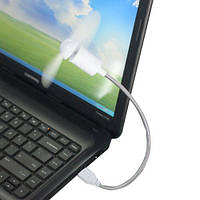 USB вентилятор кулер очень мощно дует белый