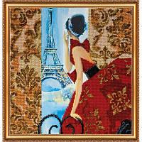 Набор для вышивки бисером на холсте «Окно в Париж»