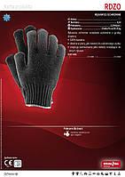 Перчатки вязанные утепленные