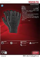 Рукавички в'язані утеплені без кінчиків пальців RDZOB-FIN